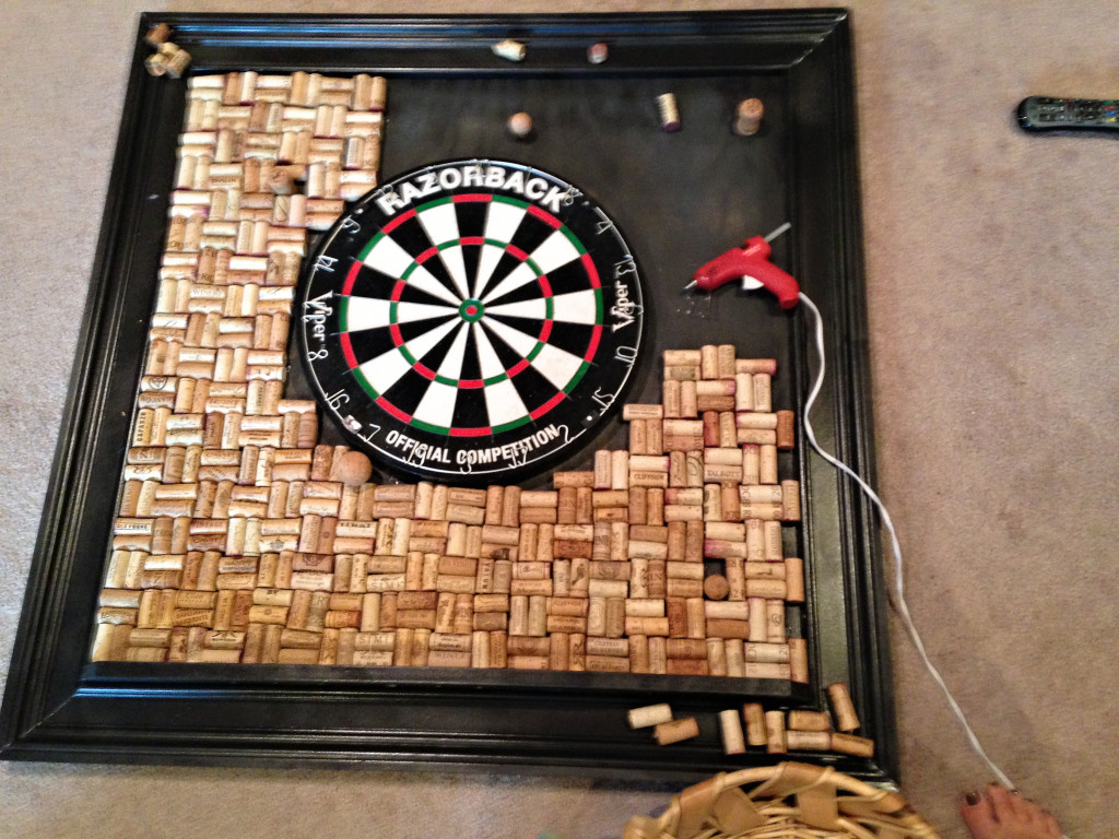 Wine Cork Dart Board Backer Diy Ideas